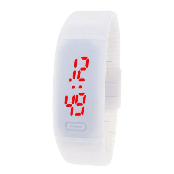 Fashionable Silica Gel Electronic Watch Led Sports Watch