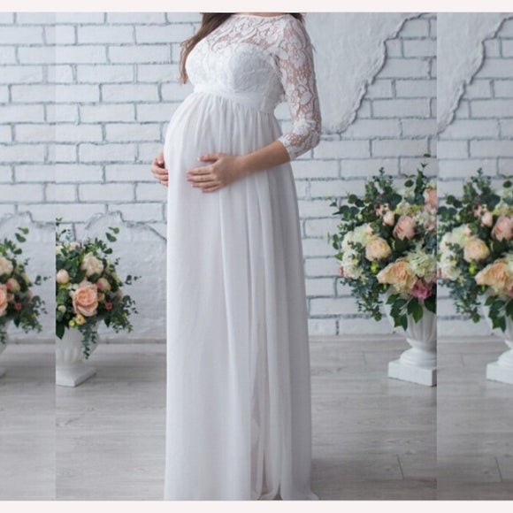 Fashion Maternity Dress Photo Shoot Maxi Maternity Lace Fancy Sexy Women Maternity Photography