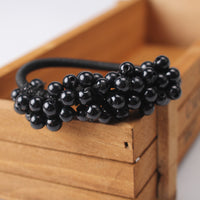1 Pc Women Pearls Beads Headbands Ponytail Holder Girls Scrunchies Vintage Elastic Hair Bands