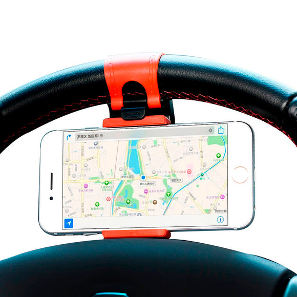 Universal Steering Wheel Mobile Phone Bracket Retractable Clip