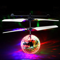 Flying Ball Luminous Kid's Flight Balls Drone Electronic Infrared Induction Glowing Ball Toys Gift