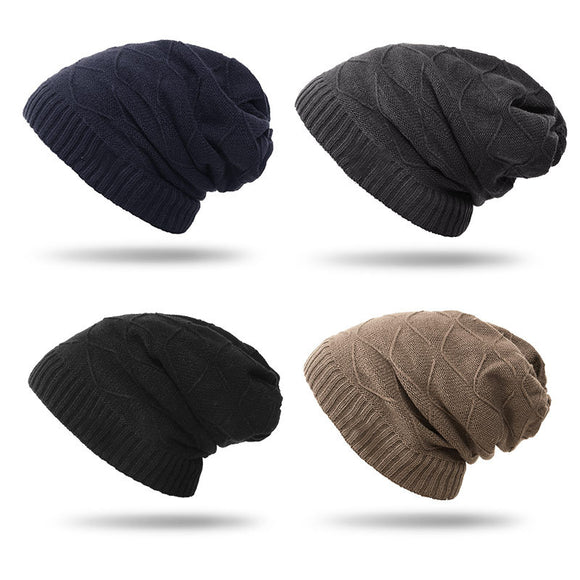 Men's Fall Winter Hat Fashion Knitted Hat Thicken Warm Hat Knit Hat