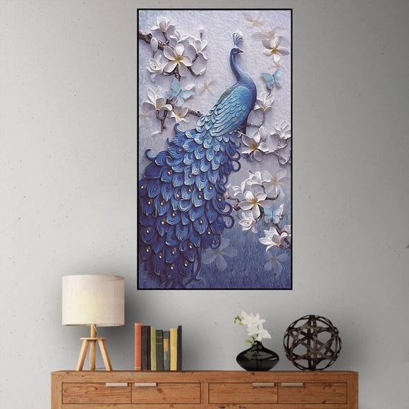 5D DIY diamond Painting peacock cross stitch handicraft ornaments Mosaic Painting