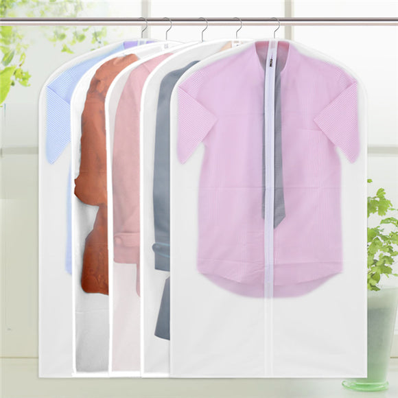 1pcs Peva Translucent Clothes Waterproof Dust Cover Clothing Storage Bag Home Storage