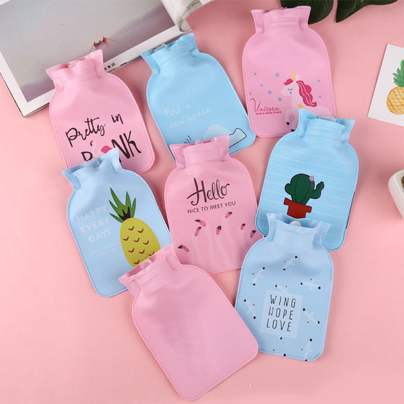 Keep Cool Cartoon Kawaii Fashion Chic Hand Warmer Portable Hot Water Bag Bottles