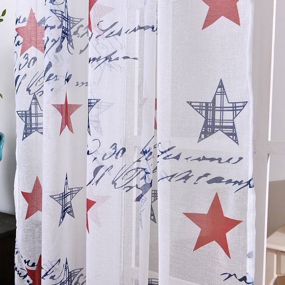 Rod Star Cotton and Linen Window Screening Bedroom Curtains