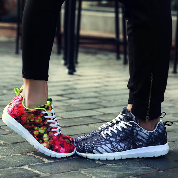 Unisex Camouflage Net Cloth Breathable Casual Sports Shoes