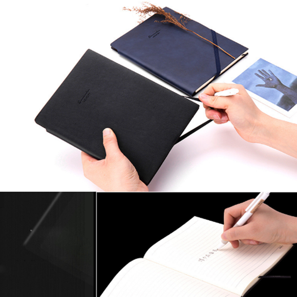 Leather Surface Pu Material 25k Business Notebook With Pen Insert Notebook Office Supplies
