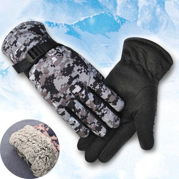 Outdoor Warm Riding Windproof Ski Plush Gloves