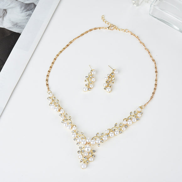 3pcs/set Simple Geometry-shaped Pendant With Rhinestone Women's Necklace Earrings Jewelry Sets