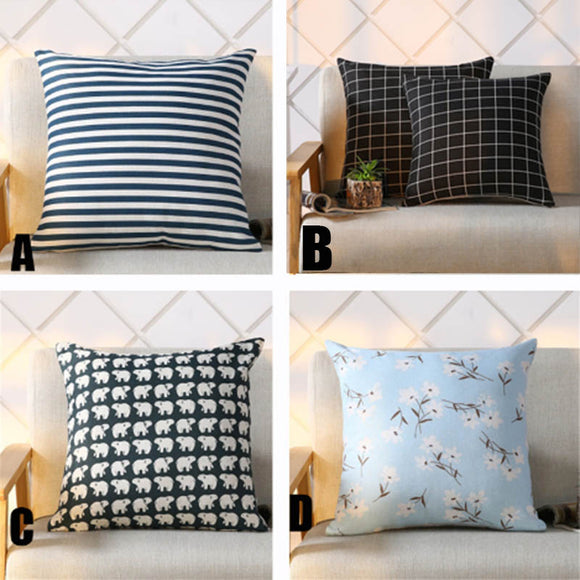 Cushion Covers Cotton Linen Cushion Pillow Cover Sofa Bed Nordic Decorative Pillow Case
