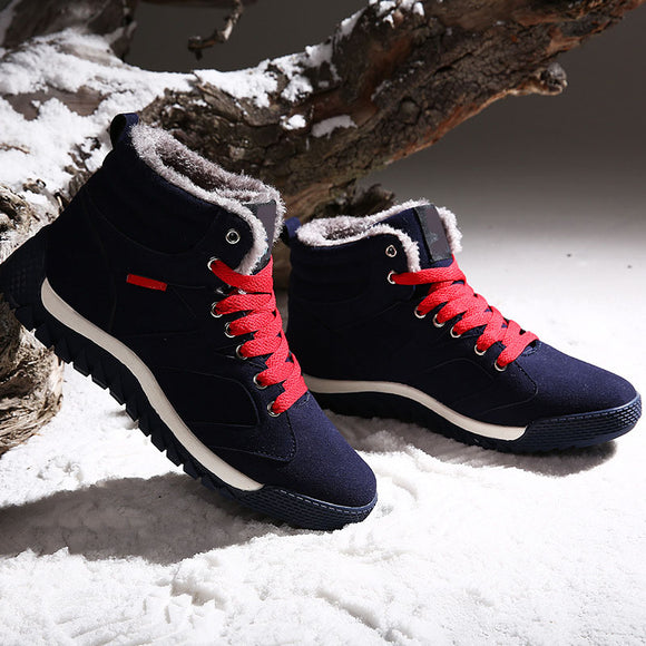 Men's High-top Board Shoes Outdoor Leisure Anti-skid Wear-resistant Warm Cotton Shoes Snow Boots