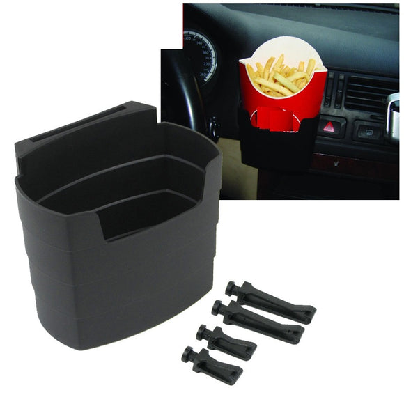 Multi-use vent shelf French fries holder bracket chips cup rack interior storage box glove bucket