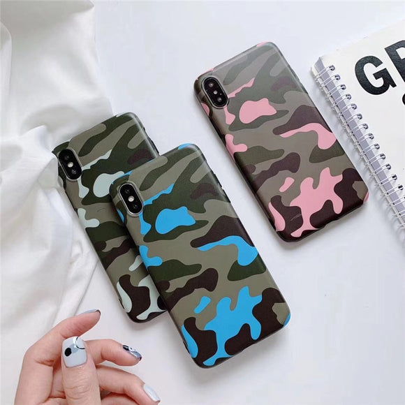 Fashion Camouflage Soft Shell Phone Case For Iphone