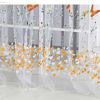 100*200/100*270cm Small Butterfly Offset Screen Curtain Transparent Window Screen Home Decoration