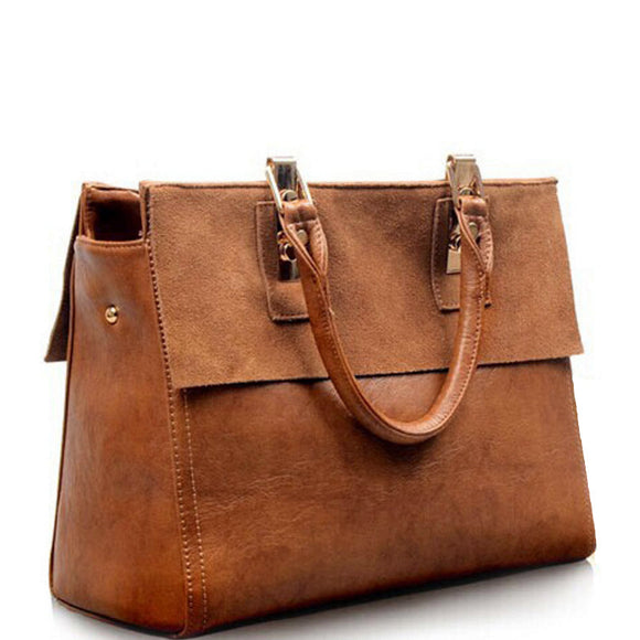 Vintage Leather Female Bag Totes Slung Handbag