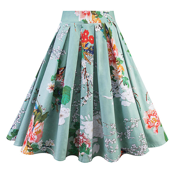 Woman Floral Printting  Vintage Skirt Fashion Skirt