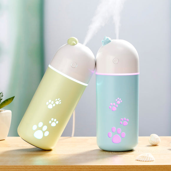 Usb Pet Footprint Humidifier Car Home Mute With Light Humidifier