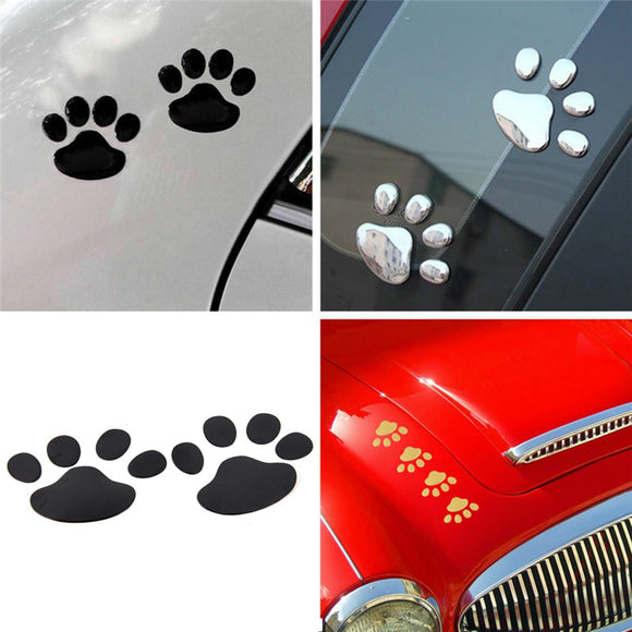 3D Dog Paw Footprint PVC car stickers decal dog bear cat animal foot print sticker car styling