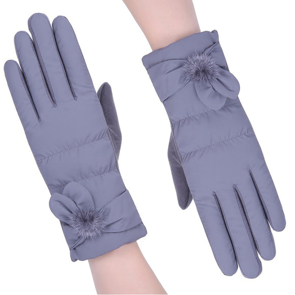 Winter Women's Outdoor Windproof Warm Touch Screen Cotton Gloves
