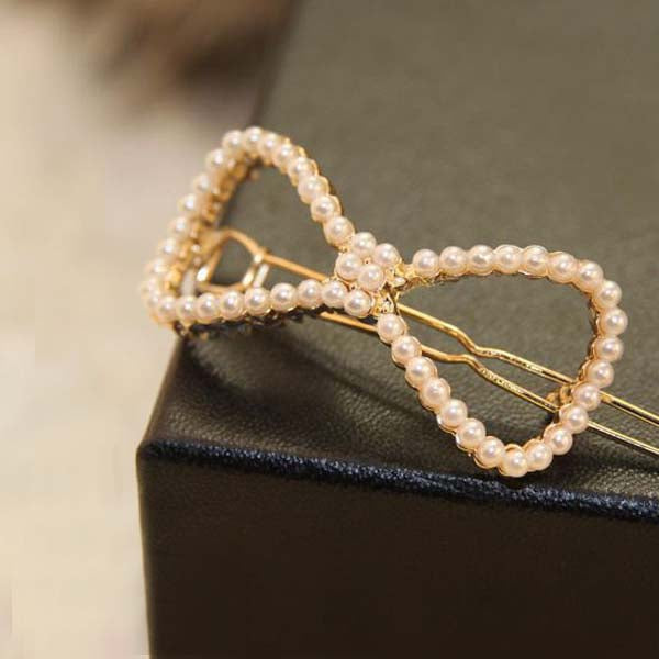 1 Pcs Women Simulated Pearl Hair Clip Hair Pin Headwear