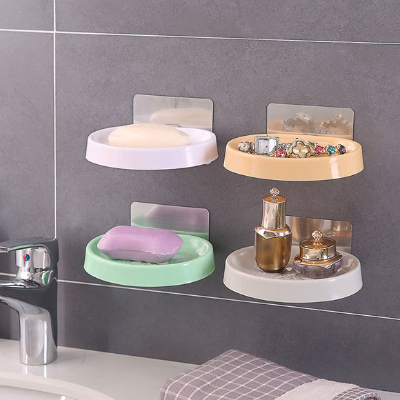 Suction Wall Creative Hollow Bathroom Drain Soap Tray Soap Box