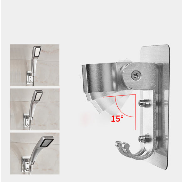 Non Perforated Sprinkler Rack Base Adjustable Aluminum Shower Support Bathroom Accessories
