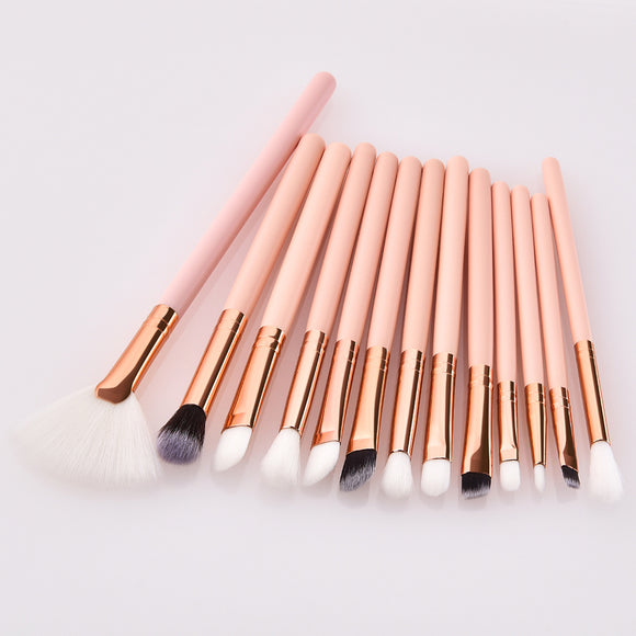 13Pcs Eye Shadow Eyeliner Makeup Brush Fan Concealer cosmetic makeup beauty tools