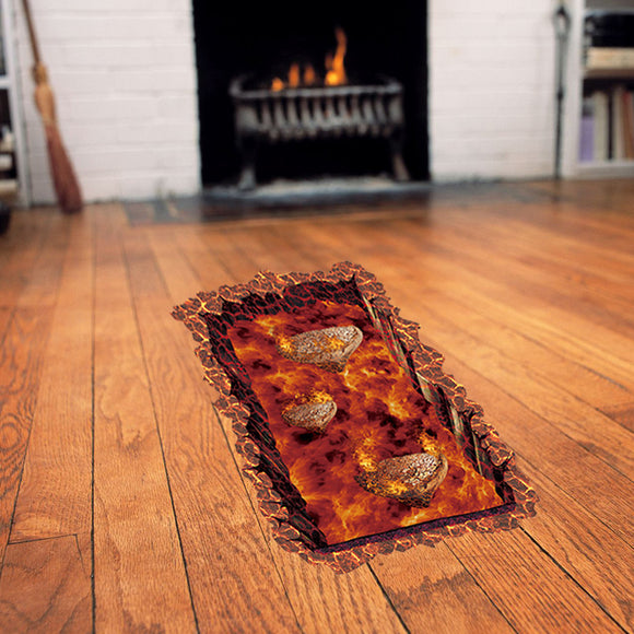 Creativity 3D Stereoscopic Magma Floor Sticker Home Decoration