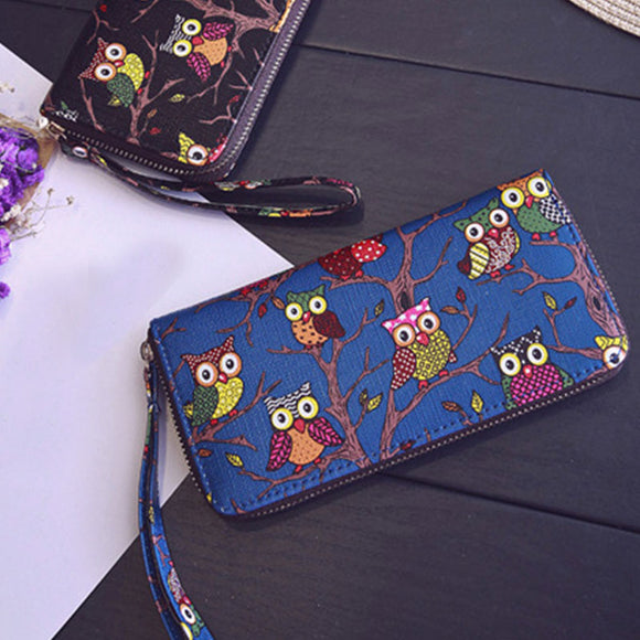 Woman Animal Pattern Clutch Bag Multi-Card Wallet Hand Bag