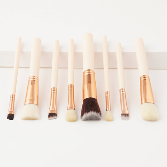 8Pcs Nude Handle Professional Makeup Brush Sets