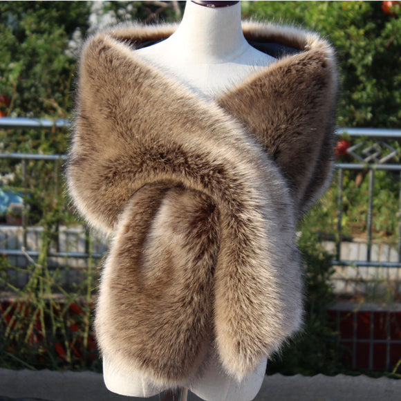 Winter New Lady Imitation Fur Big Shawl Scarf