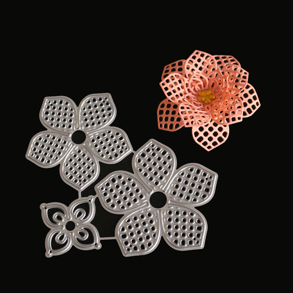 3d Metal Flower Cutting Die Diy Scrapbook Album Decoration Model