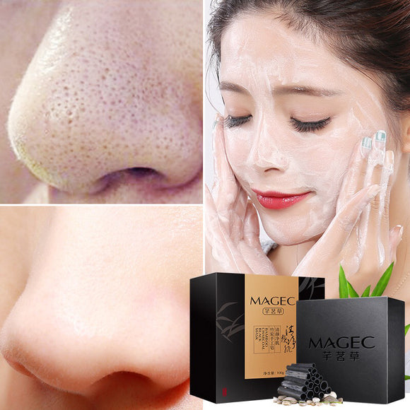 100g Facial Cleansing Soap Blackhead Removal Pores Shrinking Acne Removing