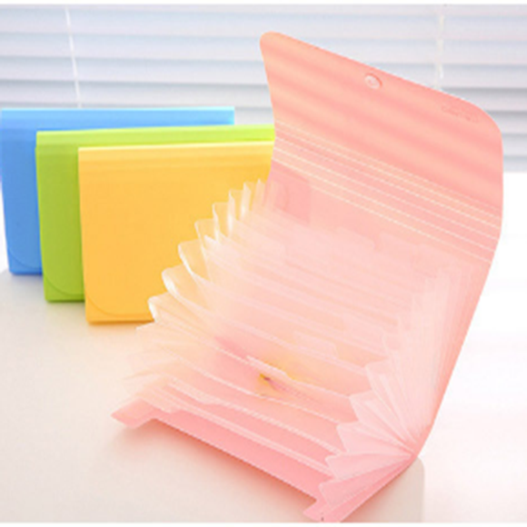 A6 Multiple Layers Documents/invoices Collection Bag Office Supplies School Supplies Stationery