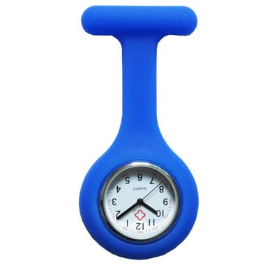 Nurses Watches Doctor portable Watch Brooches Silicone Watch Quartz with Clip