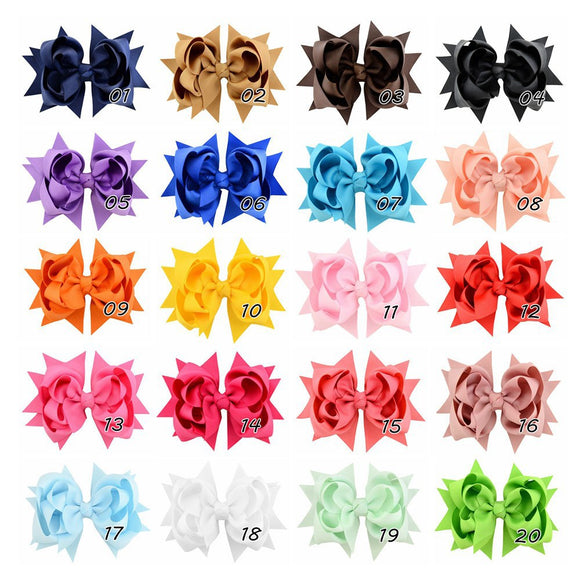 Kids Three Layers Large Bowknot Hairpin Set Hair Accessories