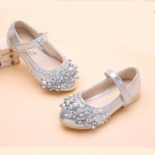 Girls' Magic Tape Appliques PU Daily Crystal Party Girls' Shoes