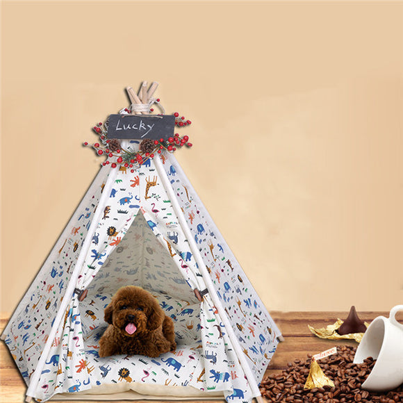 Pet Tent Cat Nest Kennel Removable Cotton Canvas Pet Nest