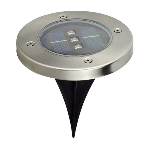 3 Led Solar Outdoor Ground Lamp Landscape Lawn Yard Stair Underground Buried Night Light Home Garden