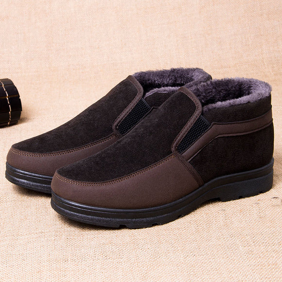 Men's High-top Anti-skid Wear-resistant Warm Cotton Shoes Snow Boots