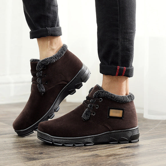 Men's Antiskid Wear-resisting Keep Warm Thickening Cotton Shoes Snow Boots