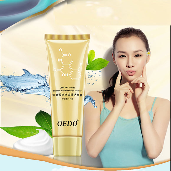 Amino Acid Bubble Moisturizing Facial Pore Cleanser Face Washing Face Anti Aging Wrinkle Cleansing