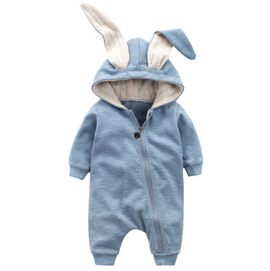NEER Cute Rabbit Ear Hooded Baby Rompers For Baby Boys Girls Clothing Jumpsuit Infant Costume