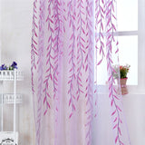 100cm*200cm Wearing Rod Wicker Offset Curtain Home Decoration Window Screen