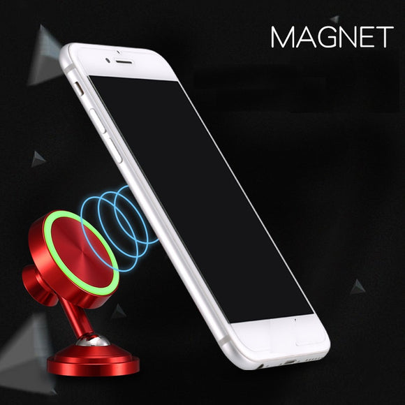Multifunction Magnetic Car Phone Holder 360 Degree Rotation Luminous Parking Number Plate