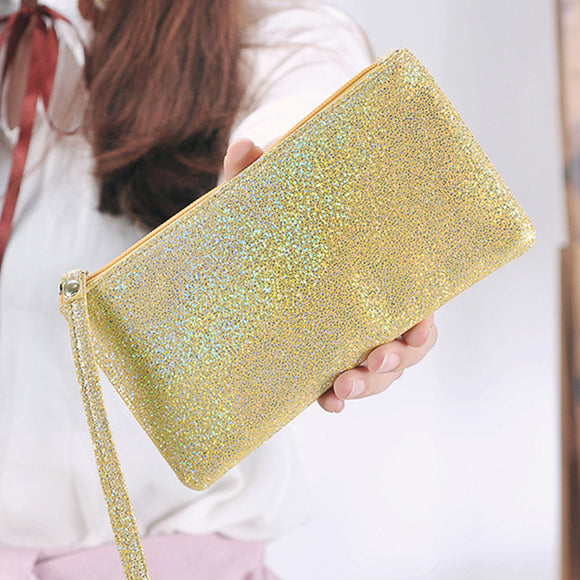 Woman Clutch Bag Long Wallet Flash Dinner Clutch Wallet Solid Hand Bag
