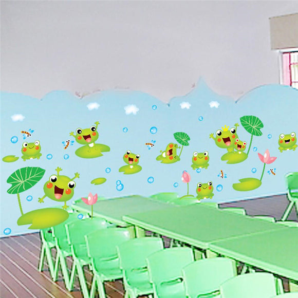 Creativity Cartoon Frogs Wall Sticker Home Decoration