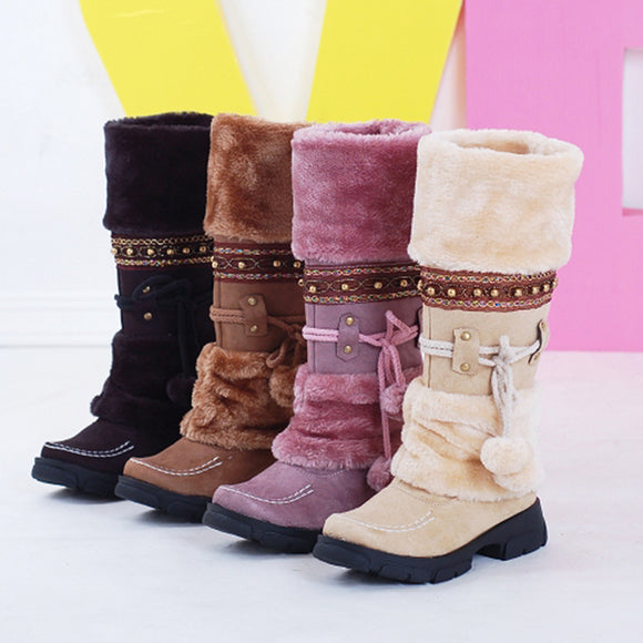 Women's Fashion Winter Warm Suede Snow Boots Casual Shoes