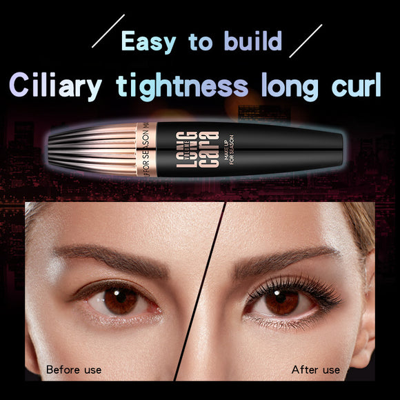 Waterproof Slender And Curling Up 4d Mascara With Large Brush Head
